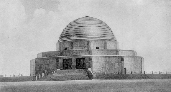 Photo of Adler Planetarium in 1933